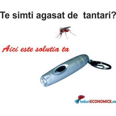 Anti-tantari portabil cu lanterna LED