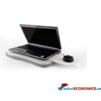 Suport laptop cu mousepad Modecom Notebook Pad Go MC-G20 alb