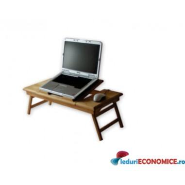 Masuta laptop din lemn Wood Duo