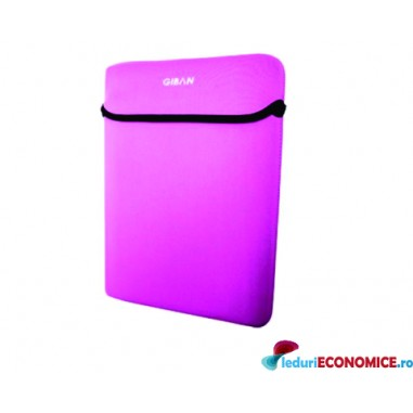 Husa laptop roz Giban