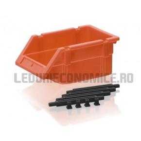 Lada pt. stocare din plastic asamblabile