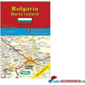 Harta pliata Bulgaria