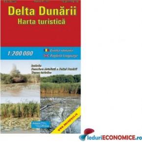 Harta pliata Delta Dunarii