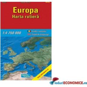 Harta pliata Europa-Rutiera