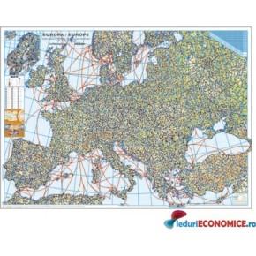 Europa-Harta fizica si rutiera
