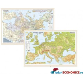 Europa-Harta politica-fizica