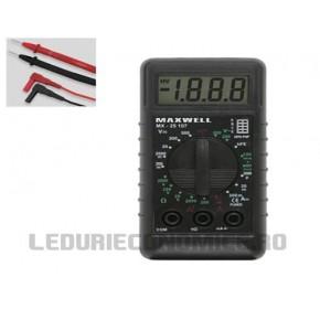 Mini Multimetru digital - test de baterie - 25107
