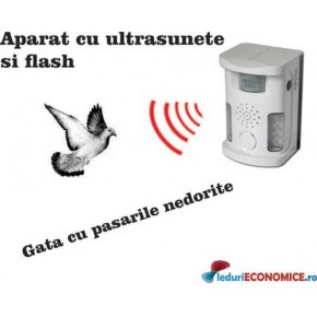 NOU 5 in 1! Pestmaster UAF03 Bird Ultrasound Repeller (anti pasari, anti rozatoare, anti animale)