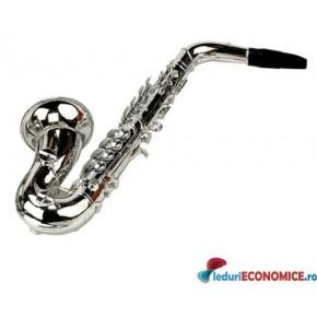 Saxofon plastic metalizat
