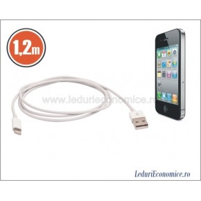 Cablu de incarcare si date pt iPhone 5S/iPod/iPad USB