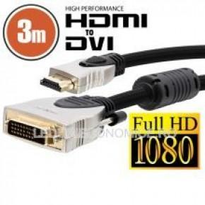 Cablu DVI-D HDMI 3 m Profesional