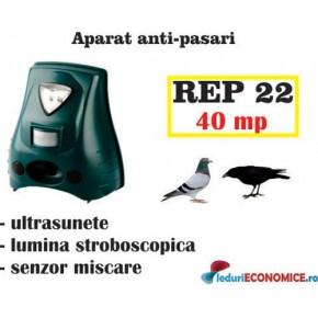 Aparat anti-pasari cu senzor de miscare si lampa stroboscopica