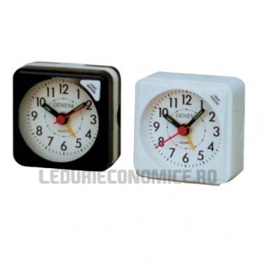 Mini ceas analogic cu quartz ideal pt. calatorii - Geneva S