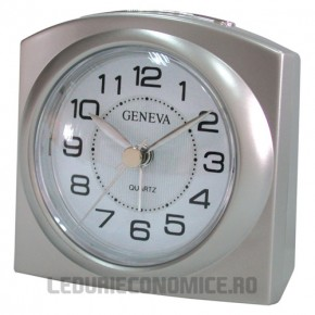 Ceas de birou cu quartz HIGH SILVER - Geneva L