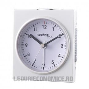 Ceas analogic de birou cu rama patrata ICE WHITE - Geneva Q
