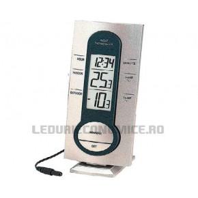 NOU! Statie temperaturi cu display LCD si afisare a temperaturilor interioare, exterioare si ora - WS 7033