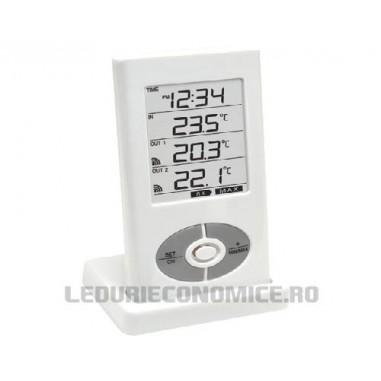 Termometru digital cu doi senzori pentru exterior si afisaj multifunctional - WS 9122 - IT