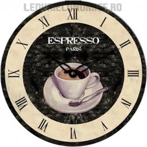 Ceas de perete ideal pt cafenele ESPRESSO - WT 1015