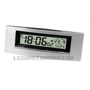 Ceas digital de birou, ce poate fi personalizat cu sigla firmei dumneavoastra - WT 182